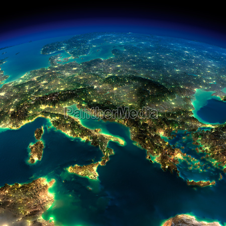 night earth a piece of europe