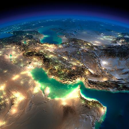 night earth persian gulf