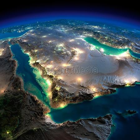 night earth saudi arabia