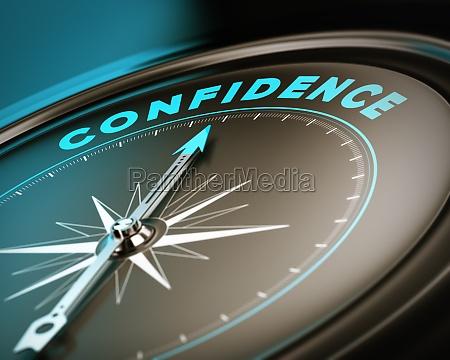 selbstvertrauen konzept