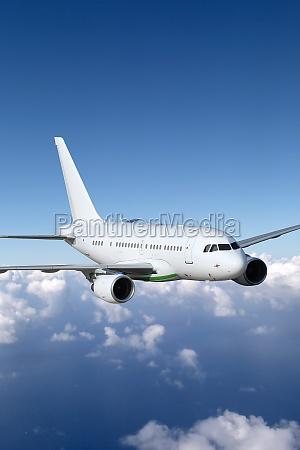 flugzeug im flug thema luftfahrt