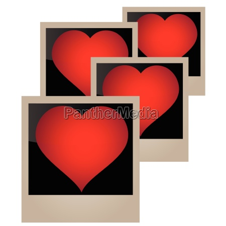 vector image template heart
