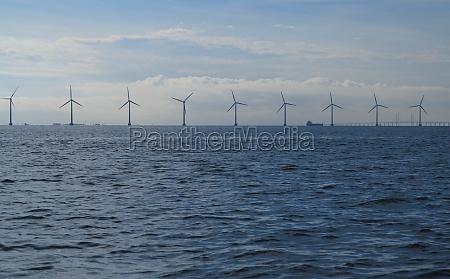 wind turbine power generator farm in