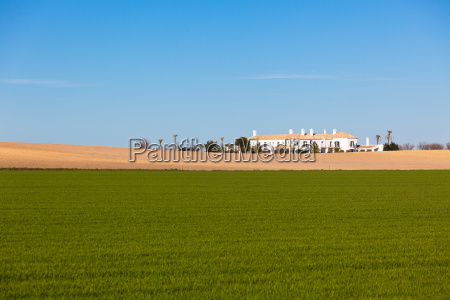 south spain rural landscape with house