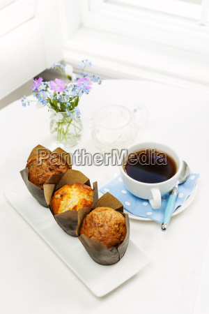muffins and coffee for breakfast