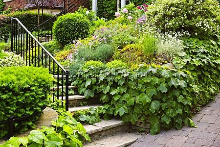 natural stone garden stairs