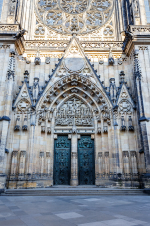 doors of st vitus cathedral in