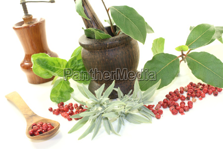 bay sage and basil pepper mill