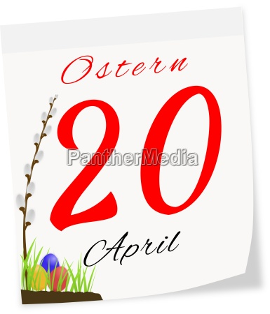 seite kalender mit datum von ostern