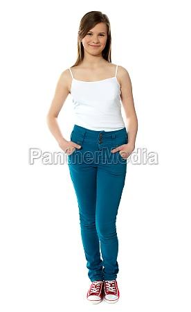 stylish teenager in trendy attire