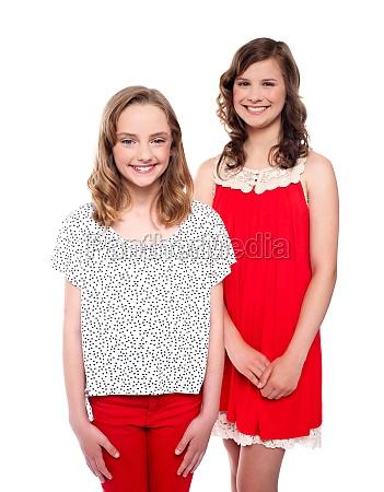 lovely girls wearing beautiful trendy dresses