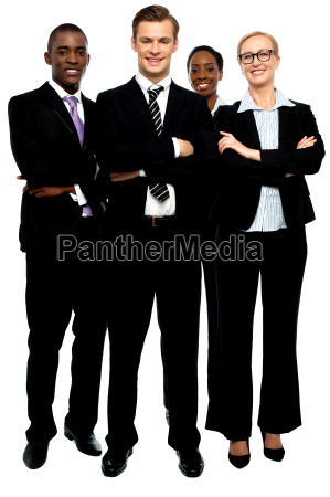 group of business people arms crossed