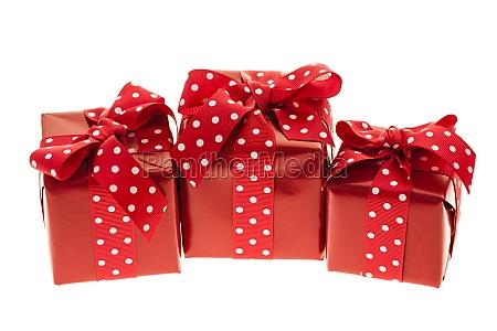 rote geschenkboxen