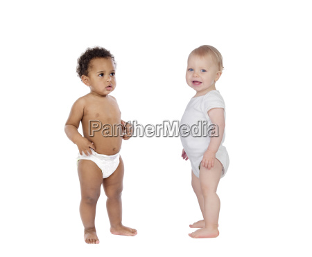 african and caucasian babies