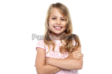 cute young girl posing with hands