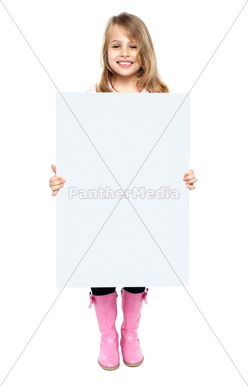 ein, entzückendes, kind, leere, whiteboard, zeigt - 11193648