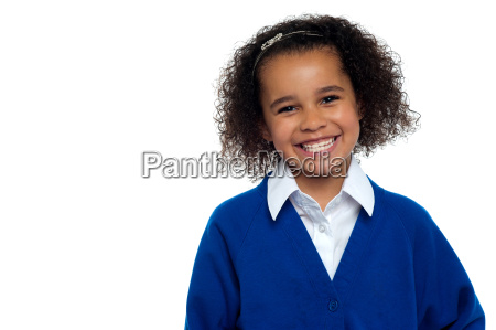 pretty elementary school girl curly hair