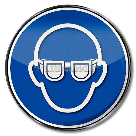 use gebotszeichen eye protection