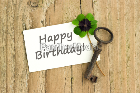 lettering text english birthday birthday card