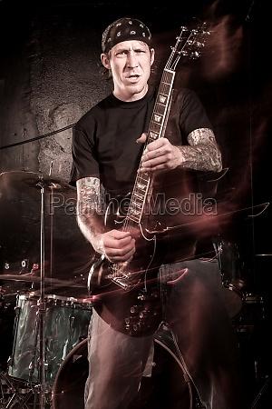 heavy metal guitar player