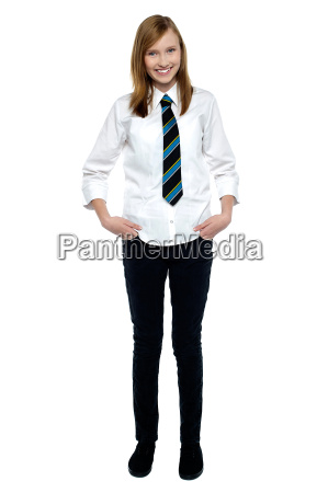 young stylish high school girl