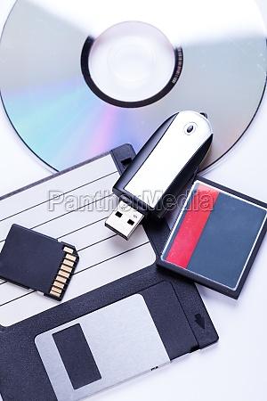 verschiedene speichermedien usb cd diskette multimedia