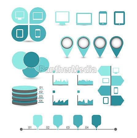 infographic design elemente ideal um zu