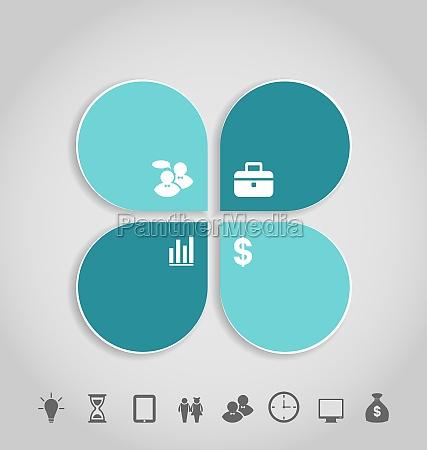 infografik design vorlage papier tags