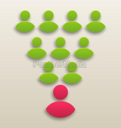 konzept der zusammenarbeit team menschen symbol