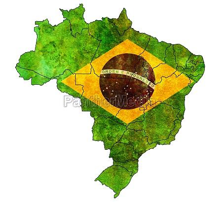 verwaltung auf der karte von brasilien