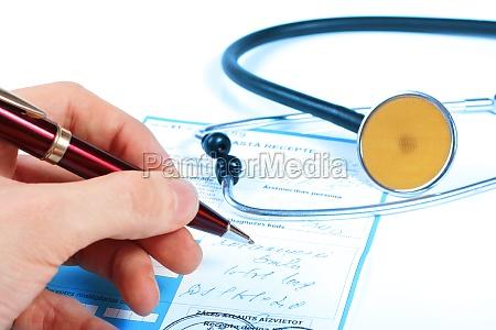doctor write prescription