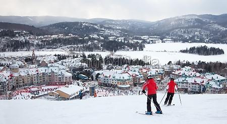 mont tremblant ski resort quebec kanada