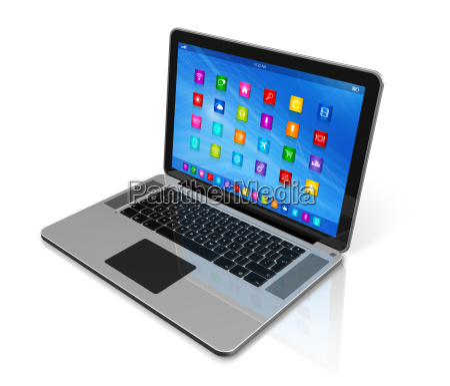laptop computer apps symbole schnittstelle