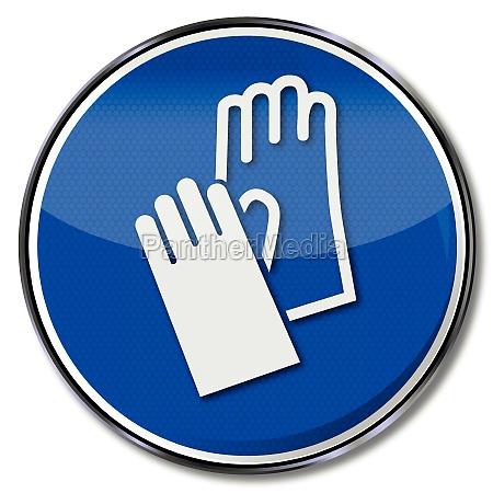 use gebotszeichen hand protection