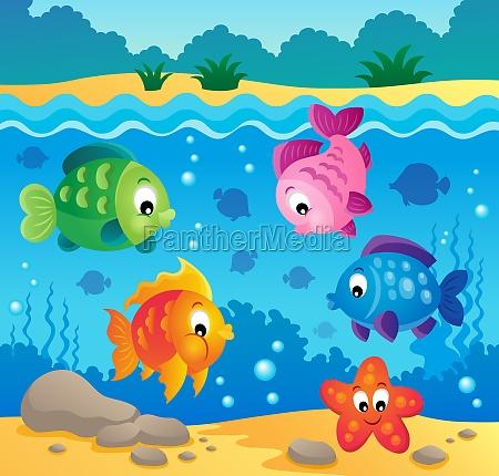 underwater ocean fauna theme 3