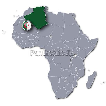 afrikakarte mit algerien
