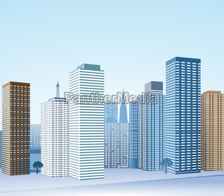 big city with skyscrapers