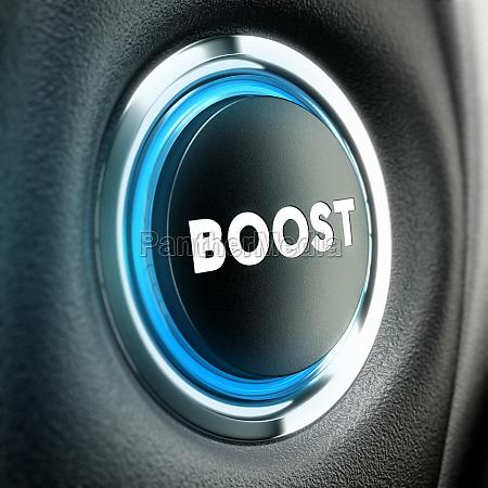 motivation concept boost button