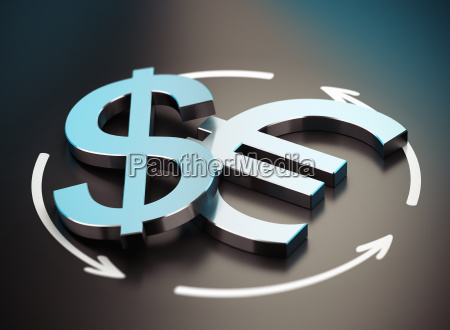 euro and dollar symbol eur usd