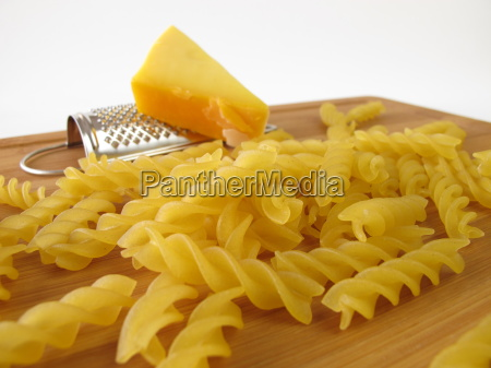 noodles with small grater and a