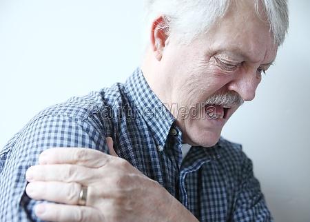 bad pain in shoulder of senior