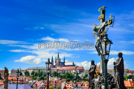 view of prague castle from charles