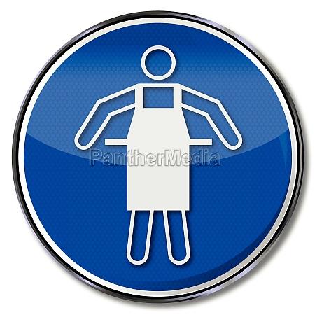 use gebotszeichen protective apron