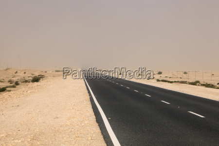 road through the desert in western