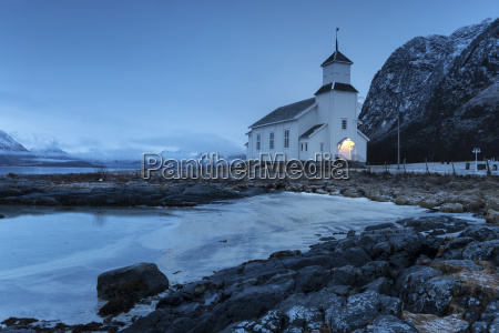 small church in gimsoy norway