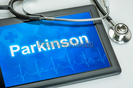 tablet with the diagnosis of parkinsons