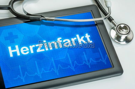 tablet diagnosed with myocardial infarction in