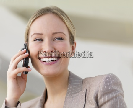 young beautiful business woman smiling and