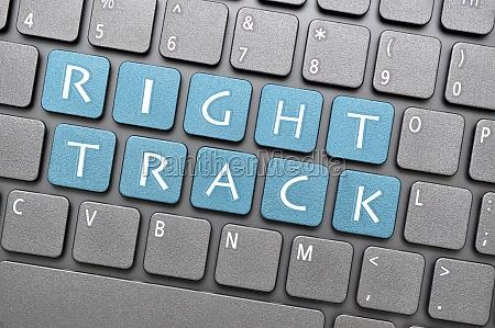 right track key on keyboard