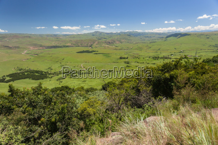 green summer valley mountains